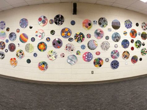 Dots created by students from Ms. Coleman, Mr. Morris, and ms. Herrings