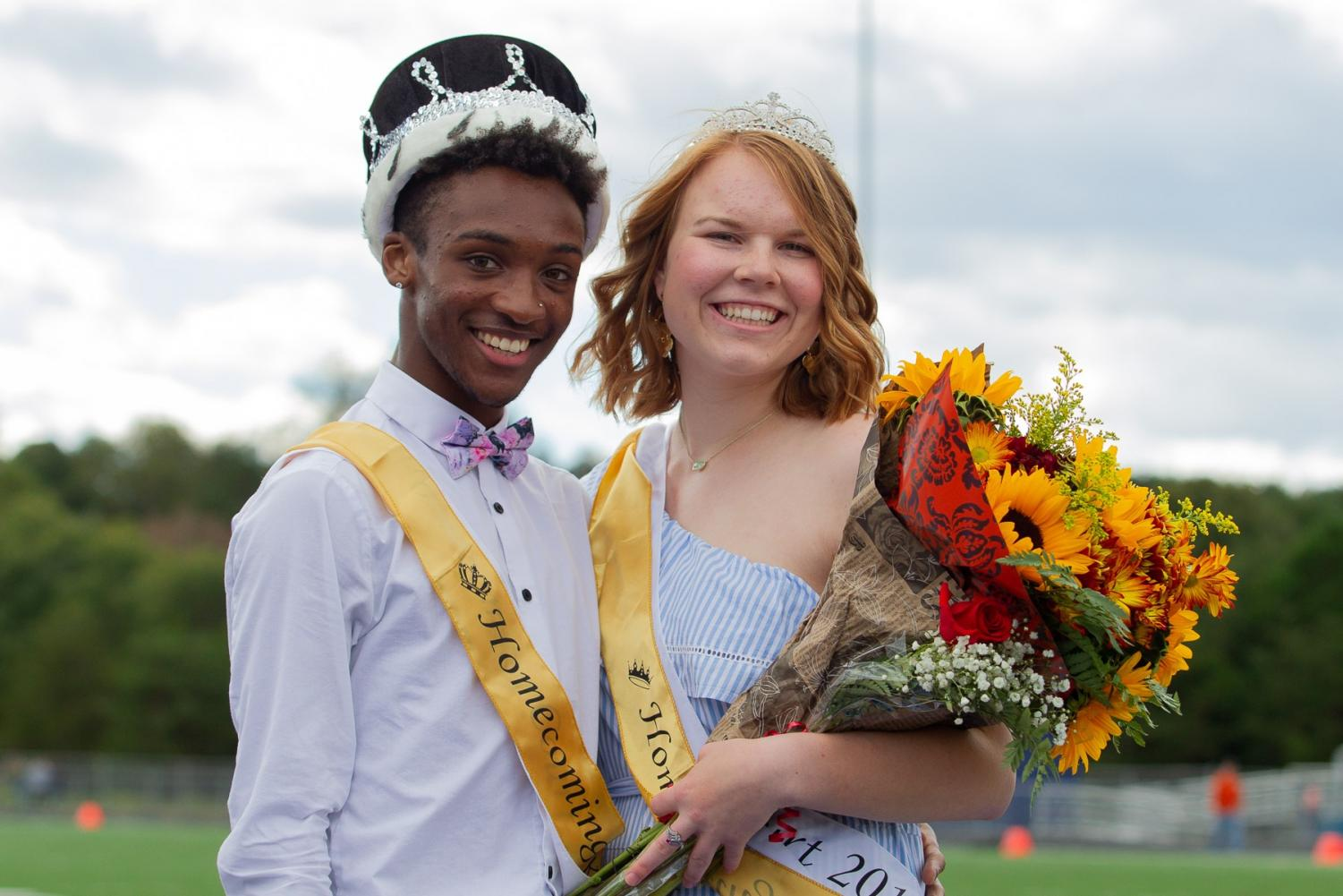 Homecoming+King+and+Queen+Taileek+Ashton+and+Kyra+Shelley+at+the+Homecoming+game+on+Oct.+13.+Photo+courtesy+of+Kenward.