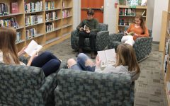 Students reading in the Fourth Floor Media Center. Photo courtesy of FCHS Journalism.