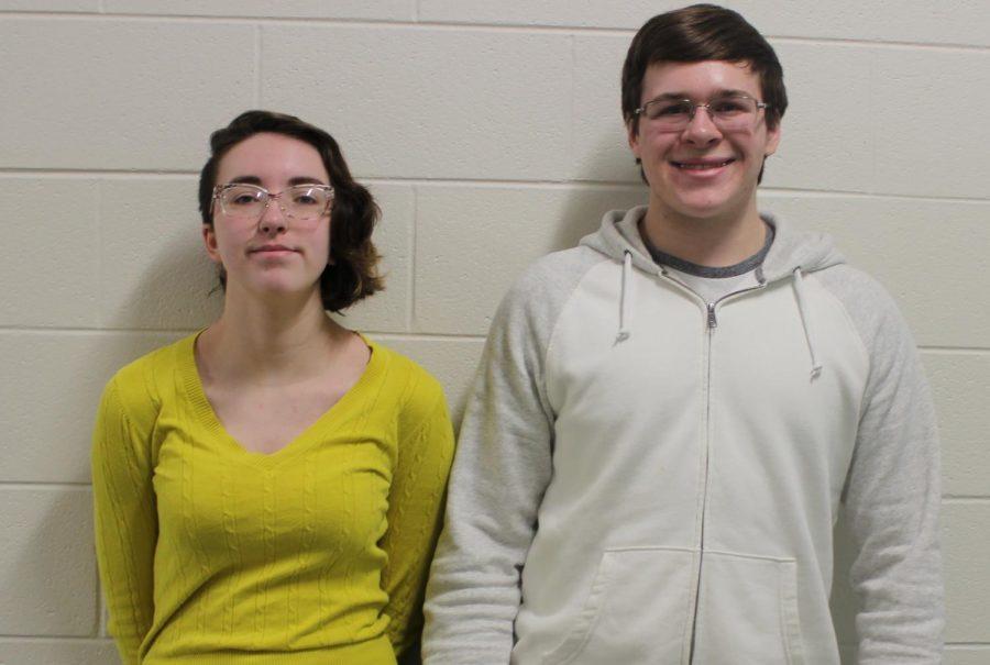 Senior Rhett Jones (right)  and sophomore Kellie Madison (left) celebrated for their Microsoft certification. Photo courtesy of FCHS Journalism.