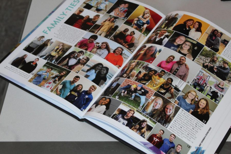Family Ties page in 2017-2018's Yearbook. Photo courtesy of Fluco Journalism