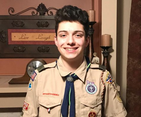Junior Nicholas Thornton in his Boy Scout uniform. Photo courtesy of Nicholas Thornton.