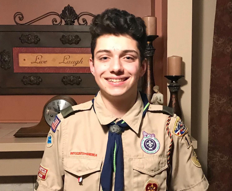 Junior Nicholas Thornton in his Boy Scout uniform. Photo courtesy of Nicholas Thornton.