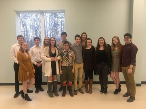 Senior Devon Shifflett and several of his friends, all of which attend FCHS, at his Eagle Scout ceremony on Feb. 11. Photo courtesy of Devon Shifflett.