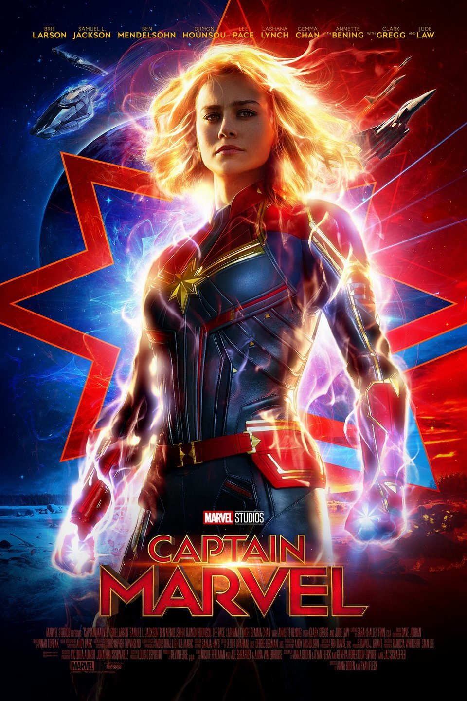 The Captain Marvel poster courtesy of both Marvel Studios and Google.
