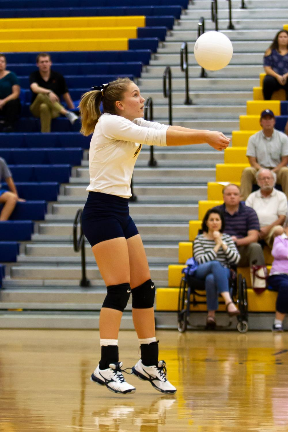 Junior Amy Glowatch at last year's JV match at Western Albemarle