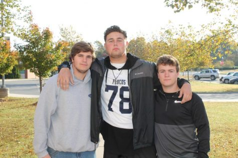 (L to R) Andrew Ward, Walter Stribling, and Cameron Shields pictured together.