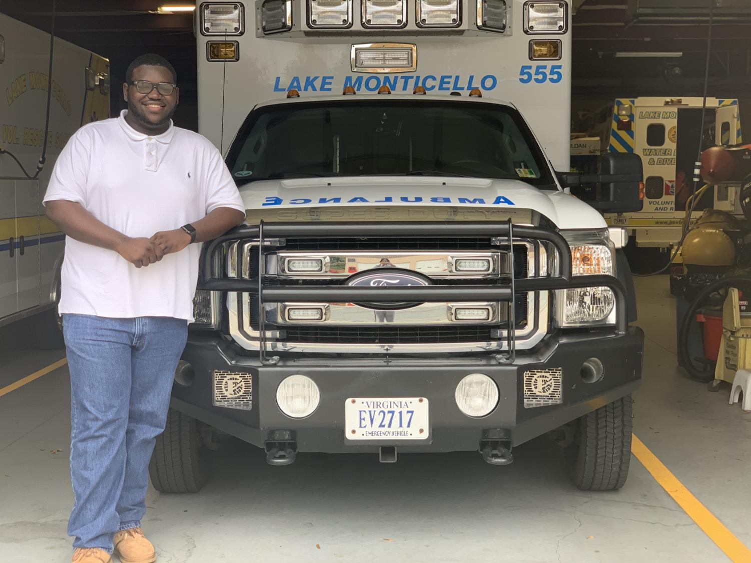 EMT volunteer KJuan Payne.  Photo courtesy of KJuan Payne
