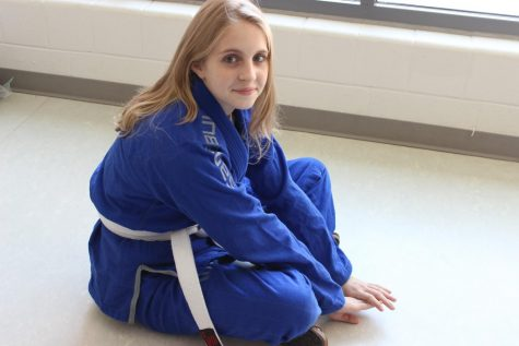 Nora Wells pictured in her jui-jitsu gi