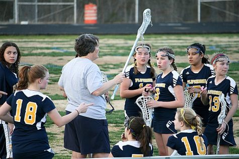 New coach Jenny Payne coaches a past team. Photo courtesy of Jenny Payne.