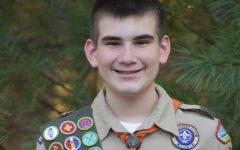 FCHS freshman Matt Gresham in his Boy Scout uniform.