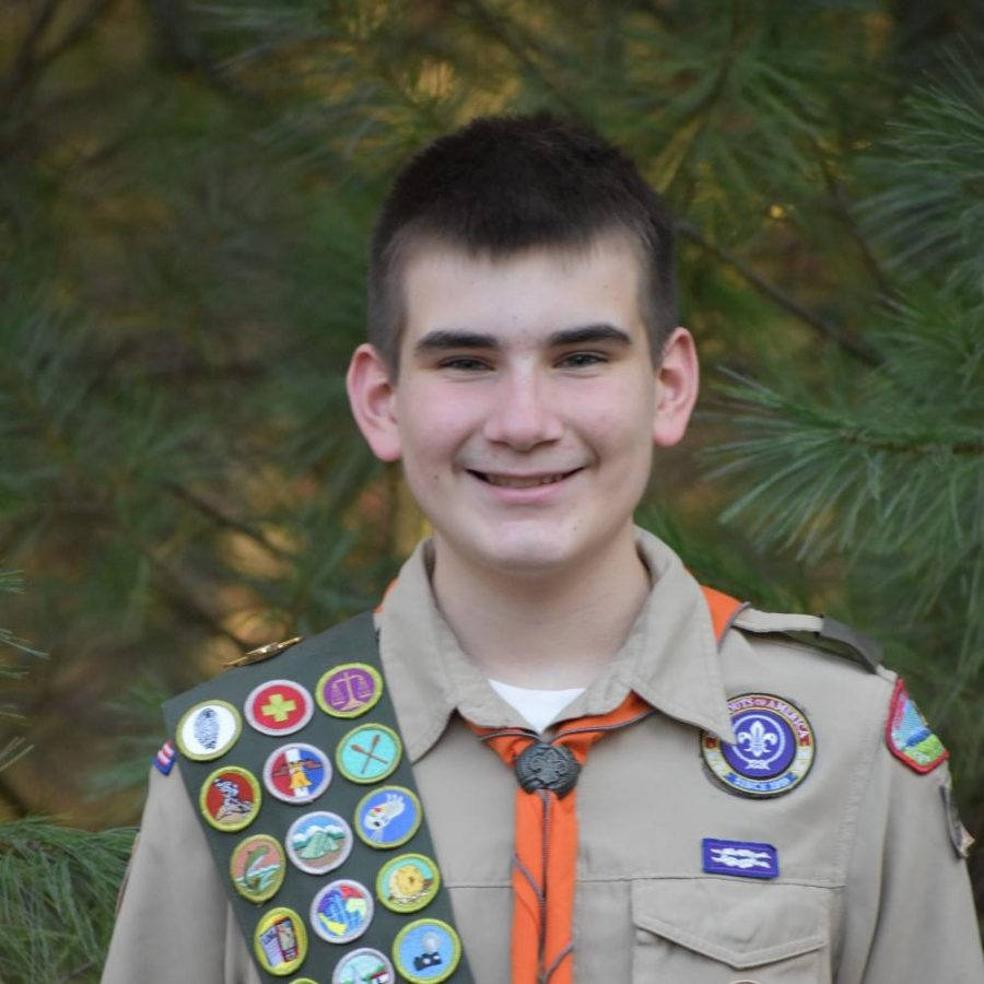 FCHS freshman Matt Gresham in his Boy Scout uniform.