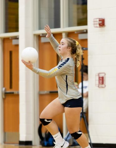 FCHS sophomore Faith Shields in a 2019 volleyball game at FCHS.
