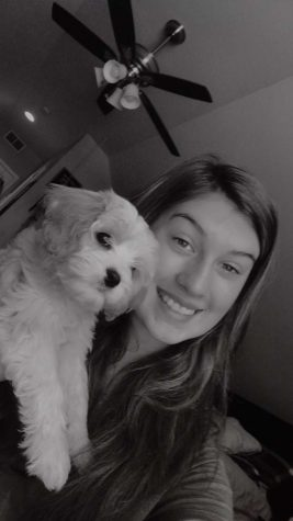 Sierra Krett and her puppy, Kaia. Photo courtesy of Sierra Krett.