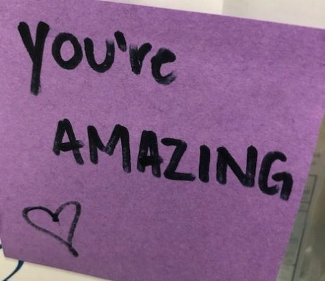 One of many Post-It notes that SGA members placed on FCHS staff doors.