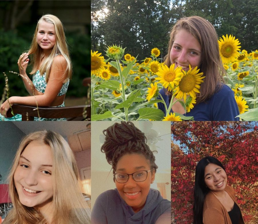 Anne Robinson (top left), Ava Amato (top right)  Ellie White (bottom left), Emily Brobbey (bottom middle), Evelyn Benson (bottom right)