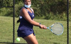 Shannon Johnson '21 at a May girls tennis match