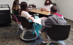 FCPS staff member Jennifer Valentine with the ACE/Resource students on May 24.